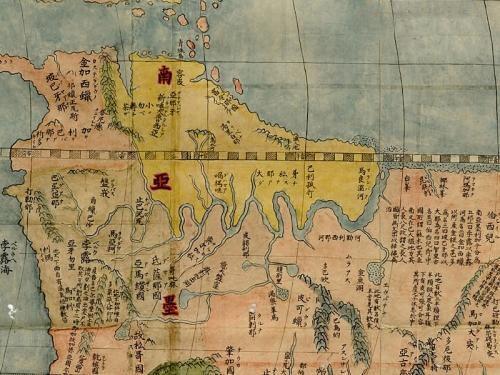 明万历年间的世界地图